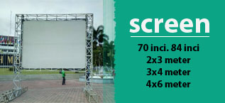 screen proyektor malang